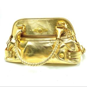 Elliott Lucca Women's Gold Leather Medium Handbag